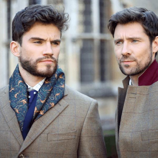 Two country gentlemen wearing tweed