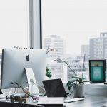Desk in marketing office