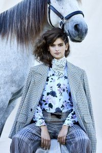 Fashion Model & Horse Image by Heidi Niemala