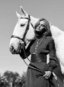 Fashion Model With Horse