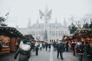 A photo of Christmas markets, a winter event suggested by the MirrorMePR lifestyle PR team