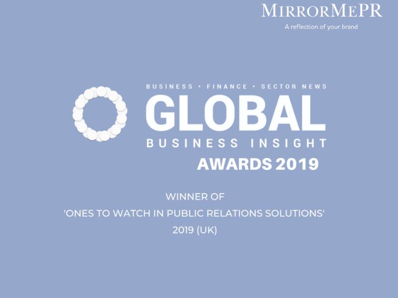 MirrorMePR Win Prestigious Award