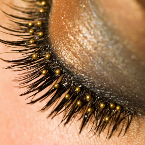 Gold eye make-up is a big trend