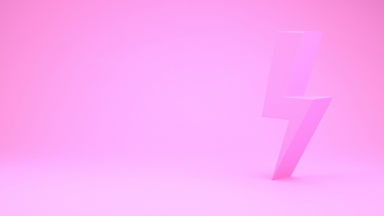 Pink thunderbolt