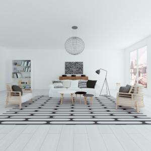 black and white home interior design