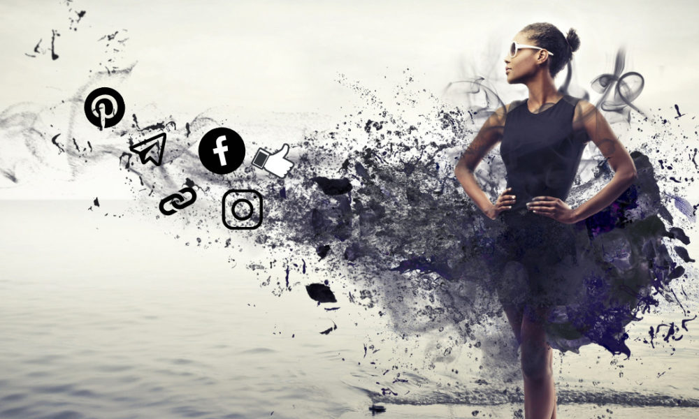 woman seeing how far social media can help her business